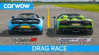 Download Lamborghini Aventador S Roadster vs McLaren 720S Spider - DRAG RACE, ROLLING RACE & BRAKE TEST Video