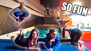 Download 24HR SUPER TRAMPOLINE PARK TO OURSELVES (BOYS VS. GIRLS) Video