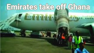 Download Emirates take off at Kotoka airport, Accra,Ghana Video