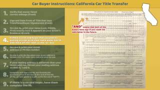 Download Transfer California Title: BUYER Instructions Video