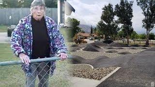 Download CRAZY LADY AT SKATEPARK Video