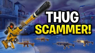Download Insanely Rich Thug Scams Himself! (Scammer Get Scammed) Fortnite Save The World Video