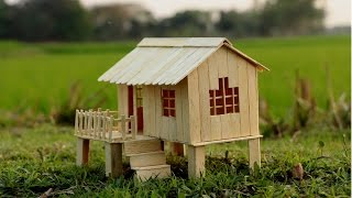 Download How to Make Popsicle Stick House for Kids Video