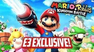 Download NEW MARIO RPG EXCLUSIVE E3 GAMEPLAY (Mario+Rabbids Kingdom Battle) Video