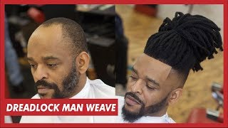 Download MAN WEAVE DREADLOCKS TUTORIAL | FULL UNIT INSTALL Video
