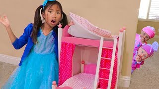 Download Wendy Pretend Play Babysit & Sleep Bedtime Bunk bed w/ Baby Doll Girl Toys Video