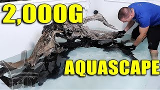 Download AQUARIUM AQUASCAPE - 2,000 GALLON FISH TANK SCAPE!! Video