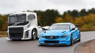 Download Volvo Trucks - The Iron Knight vs Volvo S60 Polestar - Two titans in a head-to-head challenge Video