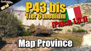 Download WOT: New tier 6 Italian P.43 bis on map Province, Patch 1.0.1, WORLD OF TANKS Video