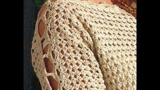 Download Sabes tejer ? Que tal suéter cerrado mangas caladas a crochet Video