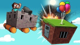 Download Minecraft - FLYING FORT CHALLENGE: Shoot it DOWN! (Flying Base Defense) Video