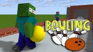 Download Monster School : BOWLING CHALLENGE - Minecraft Animation Video