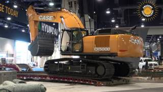Download Case CX500D excavator moving out of Conexpo 2017 Video