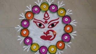 Download Durga Ji Ki Rangoli Design (NEW) Video