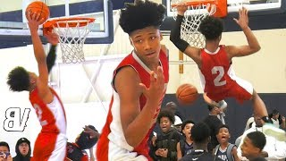 Download Mikey Williams Gets MORE DUNKS VS 14U Comp! City Ballers COOKING In The AM on MLK Day! (2 GAMES) Video