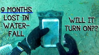 Download Underwater Metal Detecting a WATERFALL - I Found an iPhone, Rings, Pocket Knife (Phone Returned!!!) Video