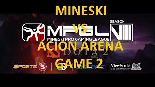 Download Mineski Sports5 vs Acion Arena Game 2 MPGL8 HIGHLIGHTS!! Video