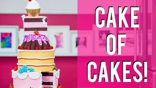 Download How To Make A CAKE OF CAKES! Chocolate, Coconut Raspberry and Pink Vanilla! Video