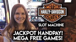 Download JACKPOT HANDPAY on Harley Davidson Slot Machine! MEGA FREE GAMES! MAX BET! Video