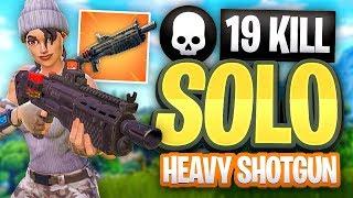 Download FORTNITE 19 KILL SOLO Heavy Shotgun Gameplay Video