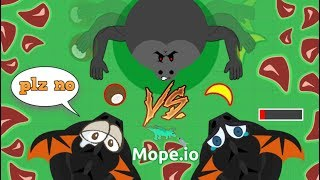 Download GORILLA KILLING EVERY ANIMAL IN MOPE.IO CHALLENGE // KILLING BLACK DRAGON WITH A COCONUT (Mope.io) Video