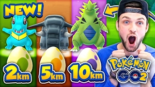 Download Pokemon GO - ALL *GEN 2* EGGS - 2km, 5km + 10km! (NEW POKEMON) Video