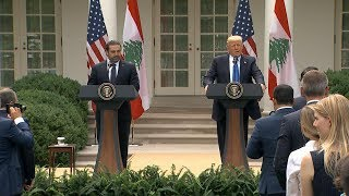 Download President Donald Trump remarks with Lebanon PM Saad Hariri Video