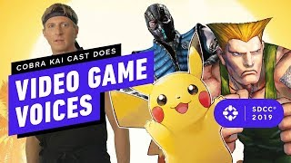 Download Cobra Kai's Cast Redo Classic Fighting Game Quotes - IGN Live at Comic Con 2019 Video