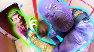 Download Thanos locked me in Box Fort Prison Escape Room in REAL LIFE! Video
