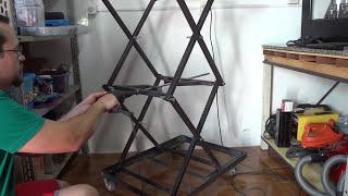 Download Mesa Carrinho Dobrável - Scissor Lift Table Cart Video