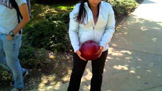Download Bowling ball dropped on iPad Video