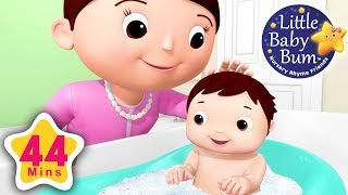 Download Baby Bath Song | Plus Lots More Nursery Rhymes | 44 Minutes Compilation from LittleBabyBum! Video
