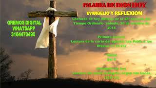 Download EVANGELIO Y REFLEXIÓN DE HOY SÁBADO 20 DE OCTUBRE DEL 2018 Video