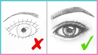 Download DOs & DON'Ts: How to Draw Realistic Eyes Easy Step by Step | Art Drawing Tutorial Video