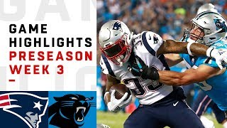 Download Patriots vs. Panthers Highlights | NFL 2018 Preseason Week 3 Video