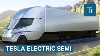 Download Elon Musk Gives First Look At Tesla's Electric Semi Video