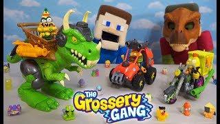 Download Grossery Gang DINOSAUR JURRASIC WORLD WAR! Vehicles Unboxing Video