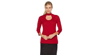 Download Slinky Brand 2pk MockNeck CutOut Sweater Tunics Video