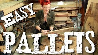 Download Pallets - How to take them apart easily with cheap tools without splitting the wood Video