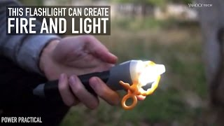 Download This flashlight can create fire and light Video