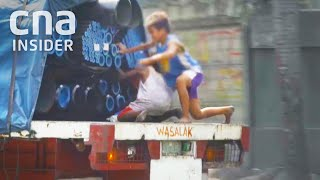 Download Kids Jump On Moving Trucks To Steal To Feed Families Video