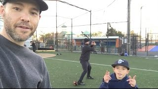 Download Playing baseball with friends on Long Island Video