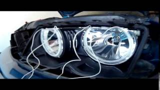 Download install angel eyes BMW E46 Video