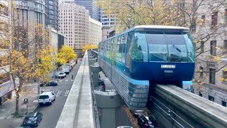Download Seattle Monorail Beautiful Fall Colors! Video