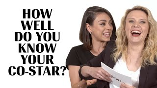 Download Kate McKinnon Literally Fights Mila Kunis To Avoid Embarrassment | How Well Do You Know Your Co-Star Video