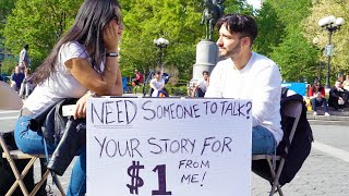 Download New Yorkers Share their Story for a Dollar - Part 1 Video