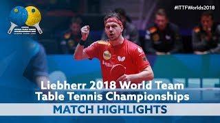 Download 2018 World Team Championships Highlights | Timo Boll vs Lee Sangsu (1/2) Video