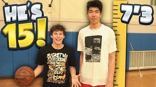 Download 1 V 1 vs 7 FOOT 3 CHINESE BASKETBALL PLAYER! He's 15 YEARS OLD Video
