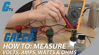 Download How To Measure Volts, Amps, Watts, & Ohms with a Multimeter Video