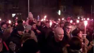 Download St Andrew's Day Parade St Andrews Fife Scotland Video
